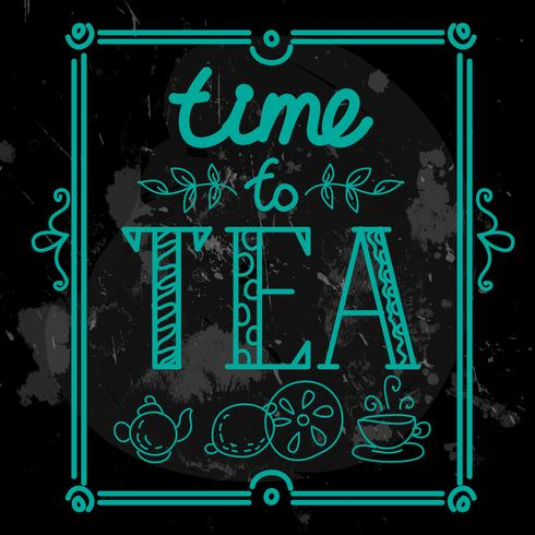 Icon set mit Tee im flachen Stil vektor