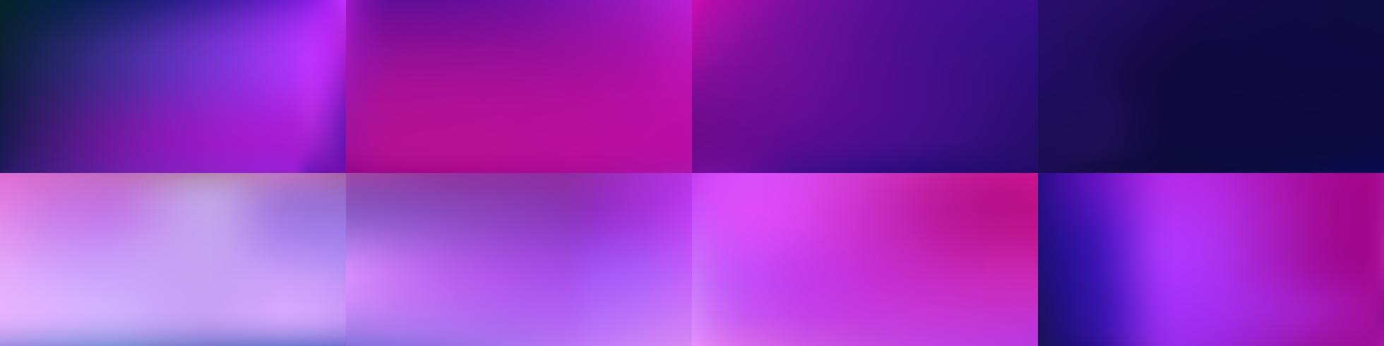 Set av lätta abstrakta färgglada mesh bakgrunder Vektor design