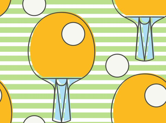 Sömlös mönster Ping pong racket. League Bordtennis. vektor