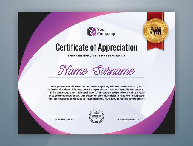 Multipurpose Modern Professional Certificate Template vektor