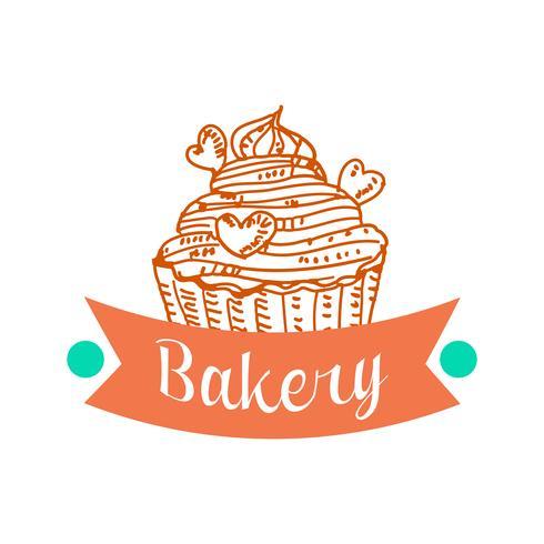 Samling av vintage retro bakeri logotyp vektor