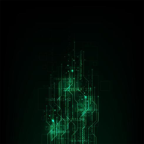 Die Bewegung digitaler Systeme auf der ganzen Welt. vektor