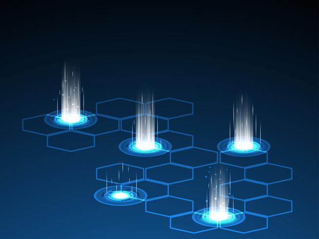 Vektor av framtida teknik som används för masstransitering.