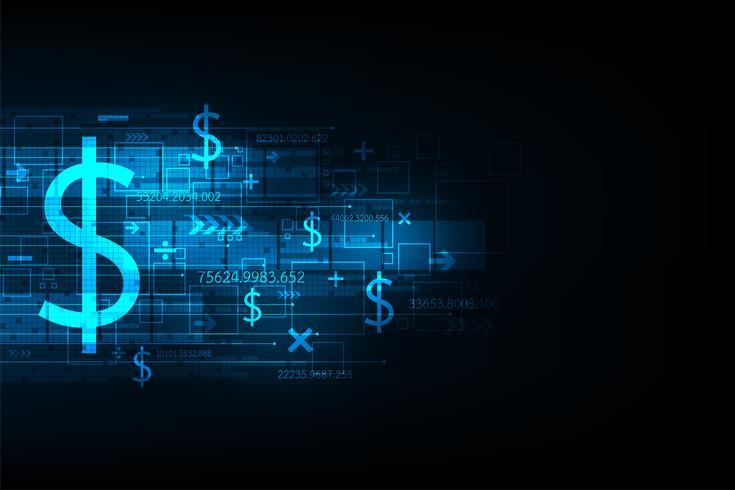 Elektroniska pengar alternativ till framtiden. vektor