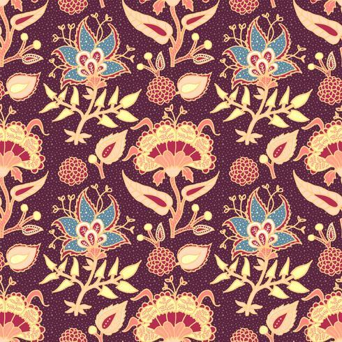 Indian National Paisley Ornament für Baumwolle, Leinen. vektor