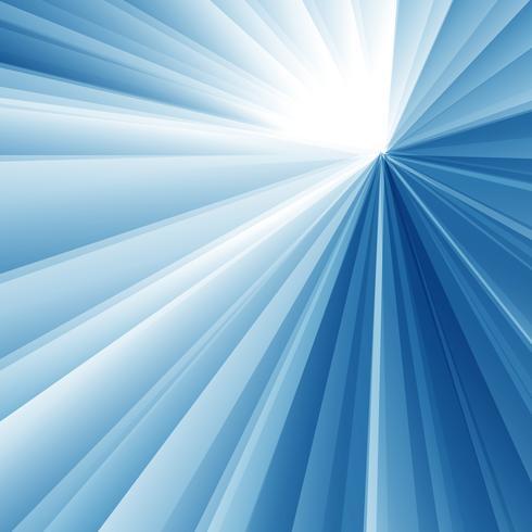 Abstrakt geometrisk triangel radial vit och blå färg bakgrund. vektor