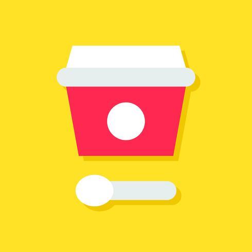 Glass kopp vektor illustration, sötsaker platt stil ikon