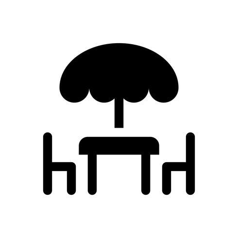 Tabelle und Stuhl vector Illustration, feste Artikone