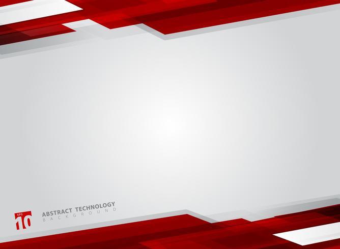 Sammanfattning teknik geometrisk röd färg glänsande rörelse bakgrund. vektor