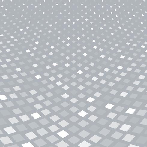 Abstrakt halvton vitt kvadratmönsterperspektiv på grå bakgrund. vektor