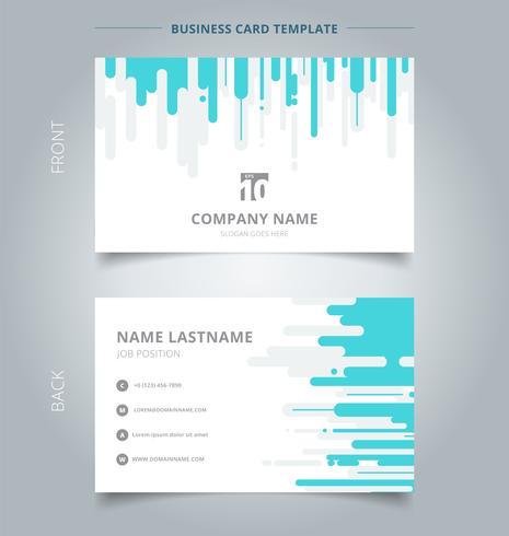 Kreativt visitkort och namnkortsmall blå och grå rundad bakgrunds vertikal halvtonövergång. vektor
