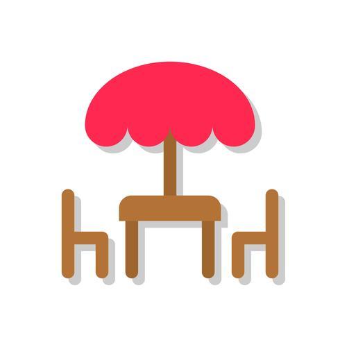 Tabell och stol vektor illustration, platt stilikon