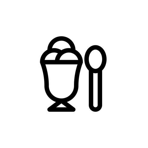 Glass kopp vektor illustration, Snygg linje stil ikon