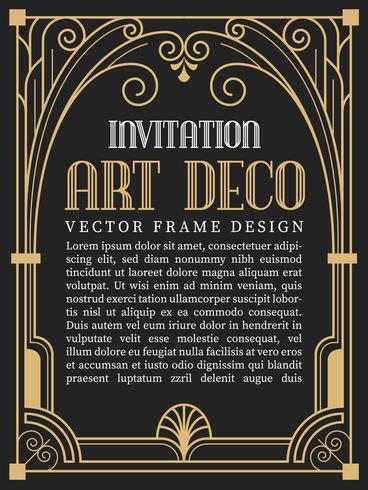 Luxus Vintage Frame Art-Deco-Stil. Vektor-Illustration vektor