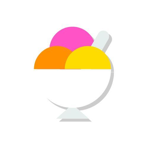Eisbecher-Vektorillustration, flache Artikone der Bonbons vektor
