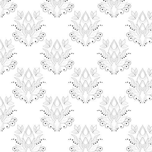 Line svart mönster med abstrakt för texturer, webbsidor bakgrunder, textil och mer. vektor
