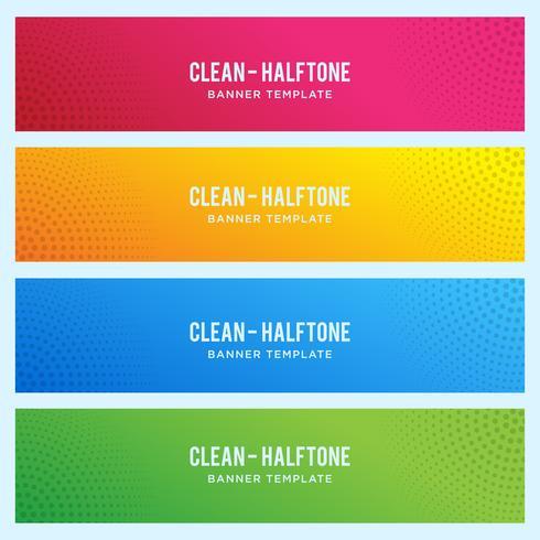 Färgrik banner med halvtonmönster vektor