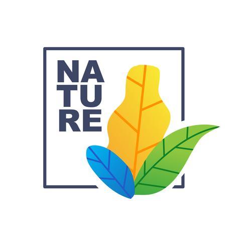 Einfaches Design der botanischen Illustration der Natur vektor