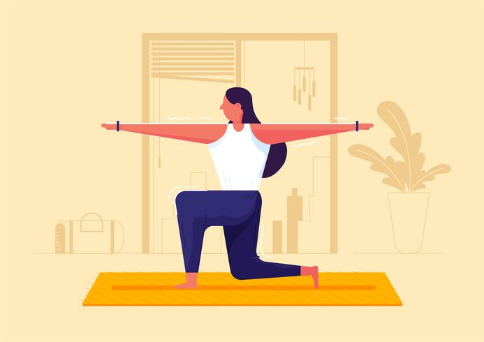 Yoga-Pose-Vektor-Illustration vektor