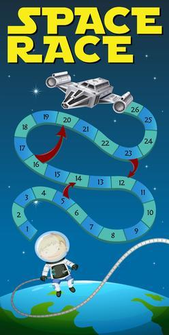 Spielschablone mit Astronauten und Raumschiff vektor