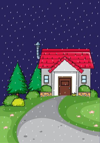 Landhaus sind Nacht vektor