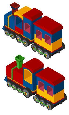 3D-design för tåg vektor