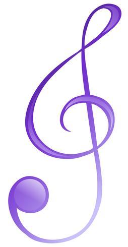 Ein musikalisches Symbol vektor