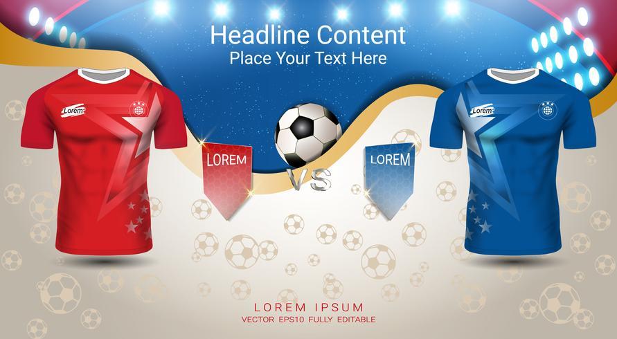 WM-Fußball-Cup-Vorlage. vektor