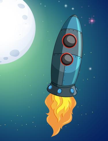 En raket på rymden vektor
