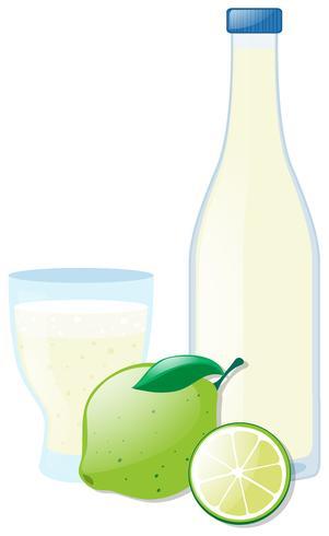 Färsk citron och juice vektor
