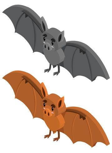 3D-Design für zwei Fledermäuse vektor