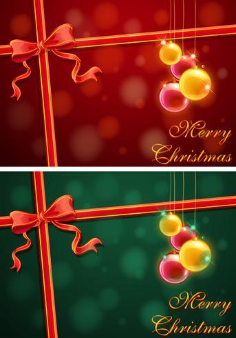 Weihnachtsthemahintergrund mit Rot und Grün vektor