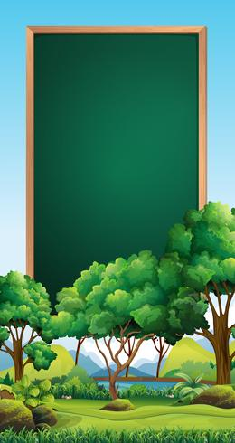 Brettschablone mit Park im Hintergrund vektor
