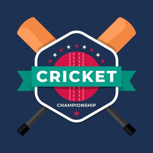 Kricket-Sport-Logo-Abzeichen-Team-Meisterschafts-Schablone vektor