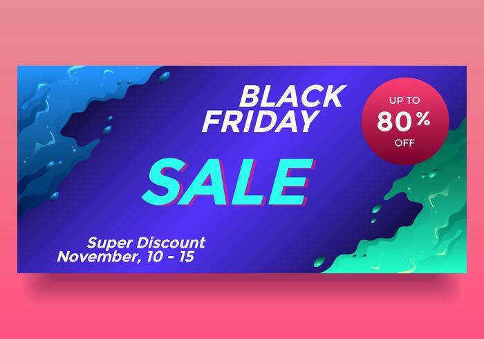 Black Friday-November-Verkaufs-flüssiger Art-Fahnen-Vektor vektor