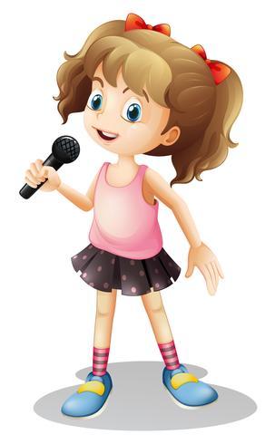 Kleines Mädchen singt ein Lied vektor