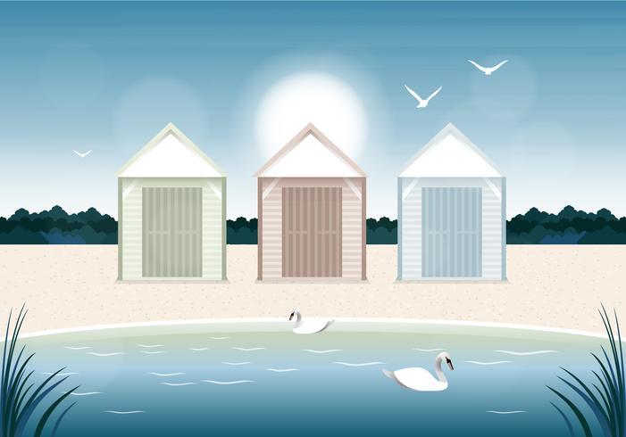 Vektor sommartid illustration