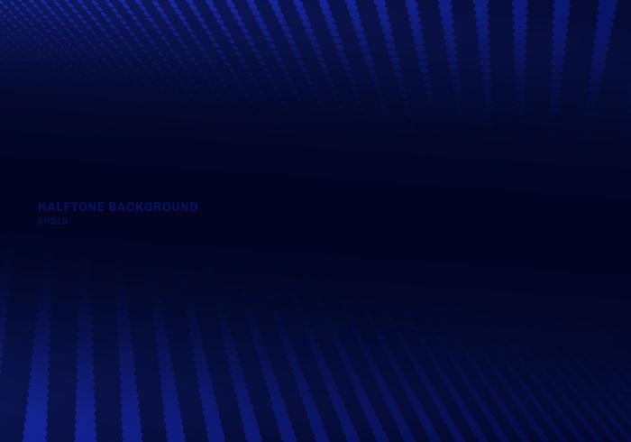 Abstraktes blaues Halbtonbild auf dunklem Hintergrund und Beschaffenheit. Punkte Linien Muster. vektor