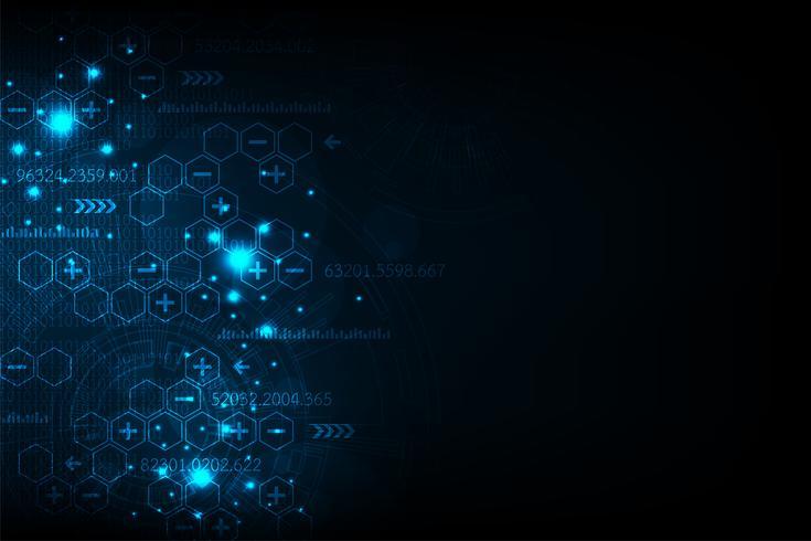 Världen av digital databehandling. vektor