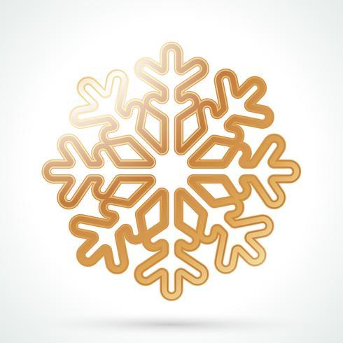Gold Schneeflocke Symbol vektor