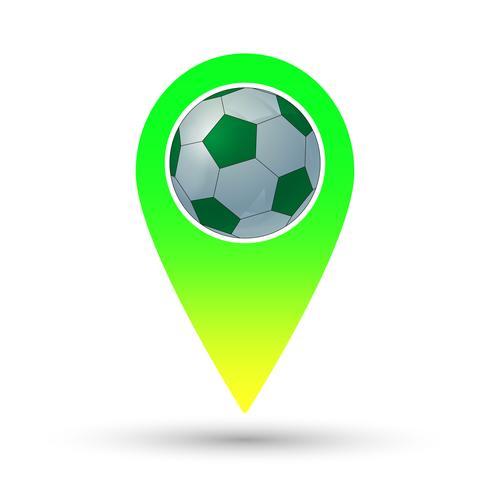 Fotbollsmarkör vektor