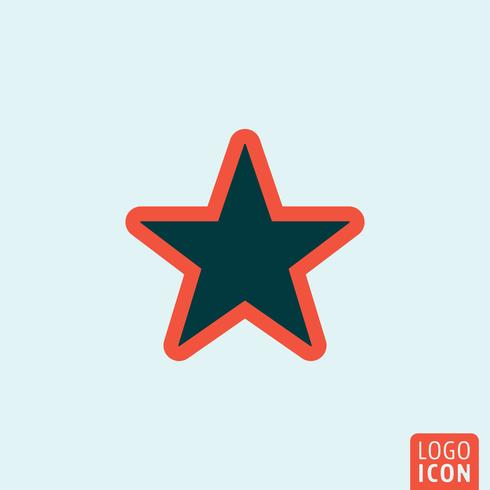 Star ikon mall vektor