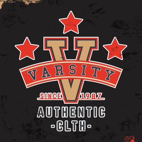 Varsity Vintage Briefmarke vektor