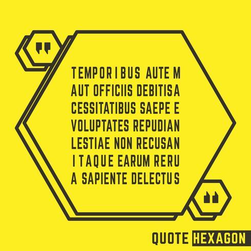 Zitat Rede Textfeld vektor
