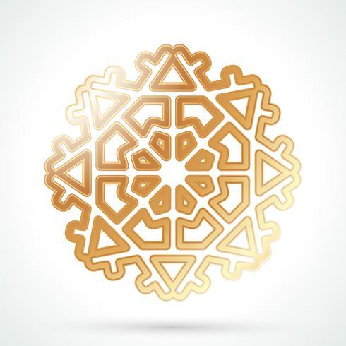 Guld snöflinga ikon vektor