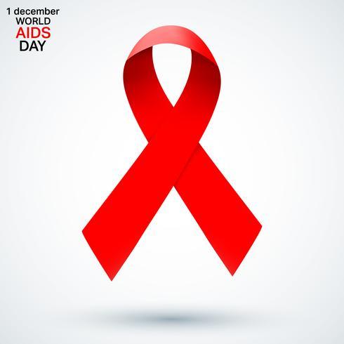 AIDS-Farbbandsymbol vektor