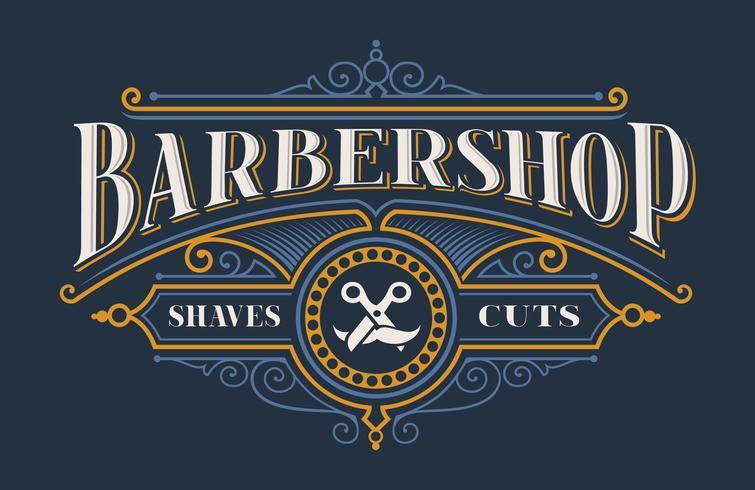 Tappning bokstäver för barbershop vektor