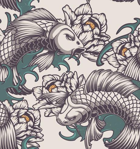 Nahtloses Muster auf dem japanischen Thema vektor