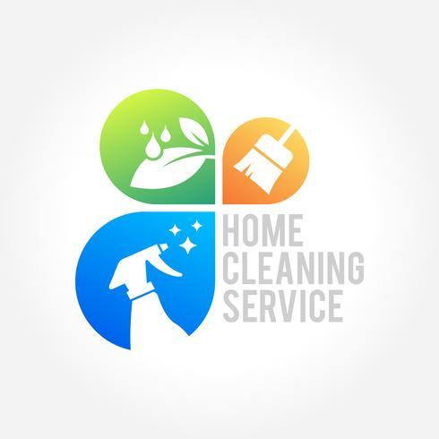 Husstädning Business Symbol Design vektor