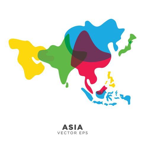 Kreativa Asien Karta Vektor, vektor eps 10
